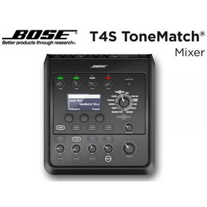 BOSE(ボーズ) T4S ToneMatch Mixer  ◆ BOSEオリジナルのエフェクト内蔵、小型4chデジタルミキサー[電源ケーブル付属]
