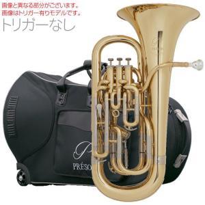 PRESON PR3300GL 【トリガーなし】  新品 ユーフォニアム ゴールド B♭ 4ピストン コンペンセイティングシステム 管楽器 管体 イエローブラスベル 一部送料追加|watanabegakki