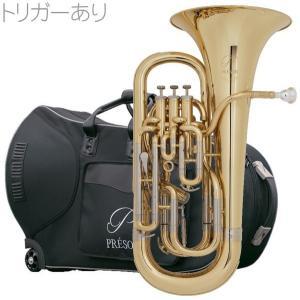 PRESON PR3300GL 新品 ユーフォニアム ゴールド  B♭ 4ピストン コンペンセイティングシステム トリガー搭載 管楽器 管体 イエローブラスベル 一部送料追加|watanabegakki