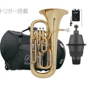 PRESON(プレソン) PR-3300GL セット B 新品 ユーフォニアム ゴールド  B♭ 4ピストン コンペンセイティングシステム トリガー搭載 PR3300GL 一部送料追加|watanabegakki