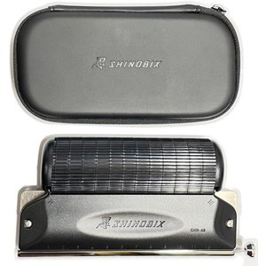 SUZUKI(スズキ) SNB-48 忍 SHINOBIX サイレンサー付き クロマチックハーモニカ フルセット シノビクス 消音器 chromatic harmonica mute silencerの画像