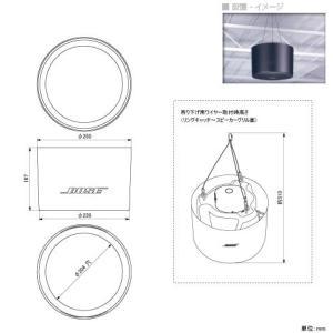 BOSE(ボーズ) DS16F-PM(1個) ◆ スピーカーペンダントマウントキット ブラックまたはホワイト
