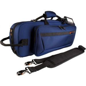 PROTEC(プロテック) トランペットケース PB-301CT BLUE 型抜き セミハードケース ショルダーストラップ付き 管楽器 シングル トランペット ケース ブルー