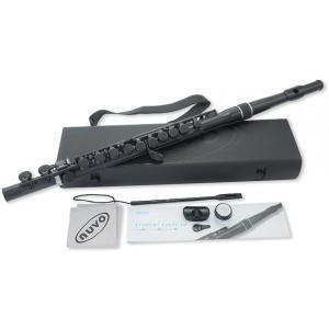 NUVO FGSF-BLK Ver2.0 プラスチック製 フルート ブラック 管楽器 スチューデントフルート ストレート頭部管 230SFBK plastic student flute black 一部送料追加|watanabegakki