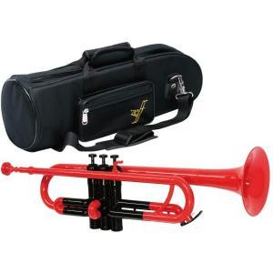 送料無料 プラスチック トランペット 新品 アウトレット ZPT-01 管楽器 B♭ ゼフ 本体 マウスピース ソフトケース セット レッド ブルー イエロー ピンク|watanabegakki