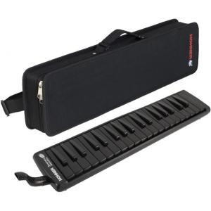 HOHNER(ホーナー) スーパーフォース37 メロディカ 37鍵 鍵盤ハーモニカ ブラック いわゆる ピアニカ 同等品 黒色 本体 ケース 立奏用 吹き口 ホース 付き|watanabegakki