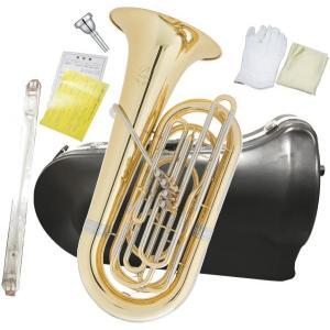PRESON(プレソン) PRB-103 チューバ B♭ 4ピストン フロントアクション 3/4サイズ 管楽器 管体 ゴールド イエローブラス ピストンチューバ 小型 PRB103 CL|watanabegakki
