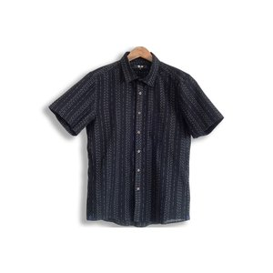 久留米ちぢみ織半袖シャツ 日本製 男性用 M L LLサイズ  父の日 敬老の日 プレゼント watanosato