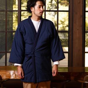 久留米袢纏はんてん 久留米紬織のゆったり大判 LLサイズ|watanosato
