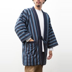 久留米袢纏はんてん 久留米紬織のゆったり大判 LLサイズ|watanosato|02