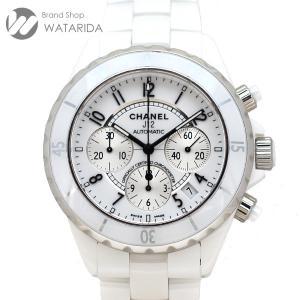 シャネル CHANEL 腕時計 J12 クロノグラフ H1007 白文字盤 ケース付 送料無料