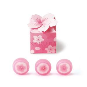 プチギフト 200円 お菓子 キャンディー 個包装 桜 ボックス 1個の画像
