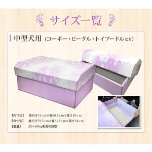 ペットの棺「紫苑」中型犬用 ダンボール 組立式 安心の全部入り お見送りセット|watasinoseikatu|02