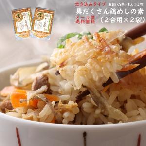 具だくさん鶏めしの素 米2合用 2袋セット 炊き込みご飯の素 1000円 ポッキリ ポイント消化 送...