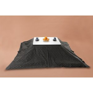 Kotatsu こたつ上掛け 正方形205cm角 麻刺し子 watayamori