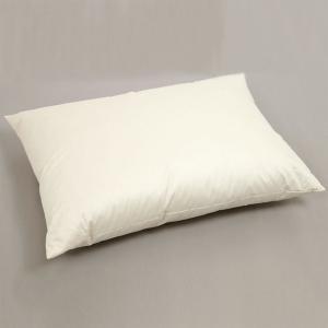 大きめの羽毛枕(ダウン70%) 70×50cm 超長綿100サテン生地 高級ホテル仕様|watayamori