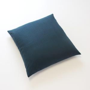 ツムギクロス 藍みどり 座布団カバー(50cm角) watayamori