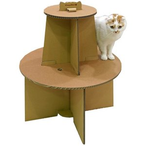 キャットハウス 猫 ダンボール にゃんテリア ミニツリー 段ボール ドギーマン