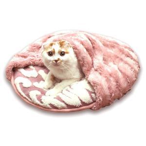 猫ぶくろ保温クッション 丸 スイートエレガンス(猫用ベッド/ペット用寝袋クッション/秋冬) キャティーマン|watch-me