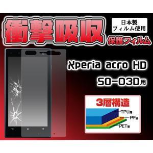 【在庫処分セール】 1.2mの高さから落下しても割れません Xperia acro HD用 衝撃吸収液晶保護シール (ソニーエリクソン エクスぺリア アクロ エイチディー)|watch-me