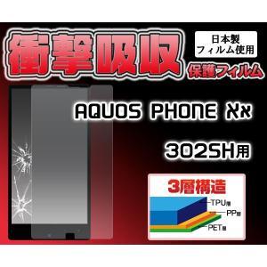 【在庫処分セール】 AQUOS PHONE Xx 302SH用 衝撃吸収保護シール アクオスフォン XX 302SH|watch-me