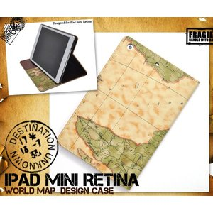 iPadケース iPad mini Retina(iPad mini 2)/ipad mini3対応 ワールドデザインケース 手帳型 スタンド機能付 アイパッド ミニ レティナ watch-me