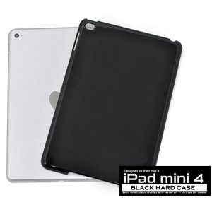 iPadケース iPad mini 4用 ハードブラックケース for Apple iPad mini アイパッドミニ4 watch-me