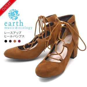 earth music&ecology レディース レースアップヒールパンプス|watch-me