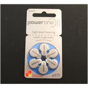 ドイツ製 PowerOne(パワーワン) 補聴器電池 PR44(P675) 6個セット|watch-me