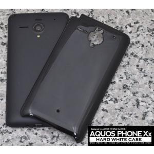 スマホケース AQUOS PHONE Xx 206SH用 ハードブラックケース SB ソフトバンクモバイル アクオスフォン Xx 206SH|watch-me