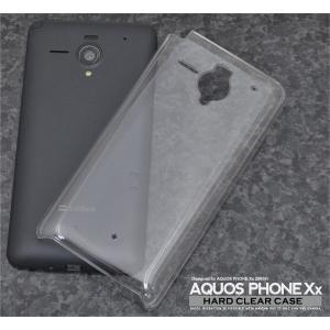 スマホケース AQUOS PHONE Xx 206SH用 ハードクリアケース SB ソフトバンクモバイル アクオスフォン Xx 206SH|watch-me