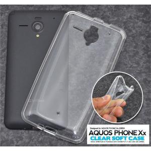 スマホケース AQUOS PHONE Xx 206SH用 クリアソフトケース SB ソフトバンクモバイル アクオスフォン Xx 206SH|watch-me