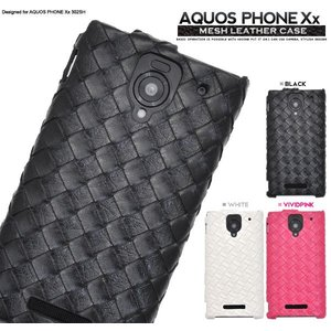 SB AQUOS PHONE Xx 302SH用 メッシュレザーデザインケース ソフトバンク アクオスフォン XX 302SH スマホケース スマホカバー|watch-me
