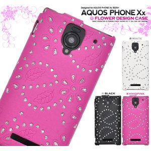 SB AQUOS PHONE Xx 302SH用 フラワーデザインケース  ソフトバンク アクオスフォン XX 302SH スマホケース スマホカバー|watch-me