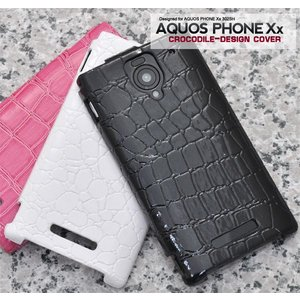 SB AQUOS PHONE Xx 302SH用 クロコダイルレザーデザインケース ソフトバンク アクオスフォン XX 302SH スマホケース スマホカバー|watch-me