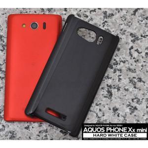 AQUOS PHONE Xx mini SoftBank 303SH用 ハードブラックケース ソフトバンク アクオスフォン ダブルエックス ミニ 303SH|watch-me