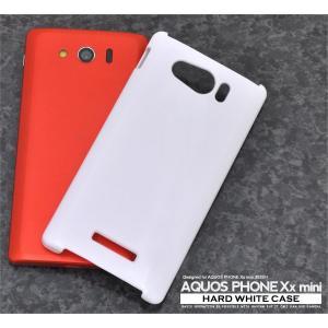 AQUOS PHONE Xx mini SoftBank 303SH用 ハードホワイトケース ソフトバンク アクオスフォン ダブルエックス ミニ 303SH|watch-me