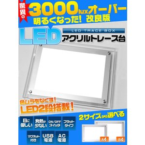 A4 LED ライト アクリル トレス台(ライトボックス)|watch-me