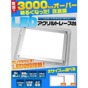 B4サイズ(大) LED ライト アクリル トレス台 商品リニューアルバーゲン/値下げ/セール/在庫処分 watch-me