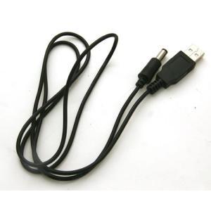 USB充電ケーブル USB-丸型ピン(5.5mm-2.1mm中+) watch-me