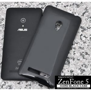 ASUS ZenFone 5用 ハードブラックケース エイスース ゼンフォン5 SIMフリー/シムフリー/激安/格安 スマートフォン スマホケース スマホカバー|watch-me