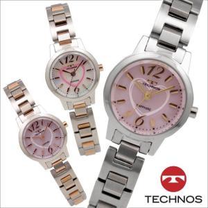 テクノス T4835 オールステンレスモデル 三針 腕時計 レディース TECHNOS 正規品 アウトレット|watch-outletstore