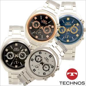 テクノス T6643 オールステンレスモデル マルチファンクション 腕時計 メンズ TECHNOS 正規品 アウトレット|watch-outletstore