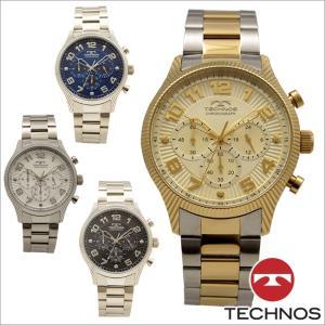 テクノス T6646 オールステンレスモデル クロノグラフ 腕時計 メンズ TECHNOS 正規品 アウトレット|watch-outletstore