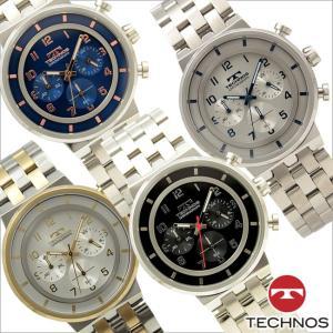 テクノス T6647 オールステンレスモデル クロノグラフ 腕時計 メンズ TECHNOS 正規品 アウトレット|watch-outletstore