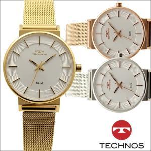 テクノス T6885 オールステンレスモデル 三針 スリムウォッチ 腕時計 レディース TECHNOS 正規品 アウトレット|watch-outletstore