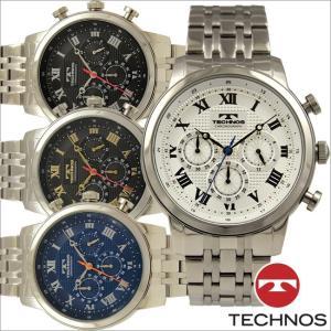 テクノス T6A13 オールステンレスモデル クロノグラフ 腕時計 メンズ TECHNOS 正規品 アウトレット|watch-outletstore