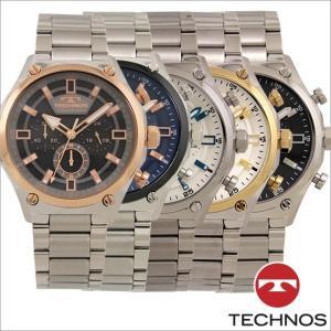 テクノス T6A43 オールステンレスモデル クロノグラフ 腕時計 メンズ TECHNOS 正規品 アウトレット|watch-outletstore