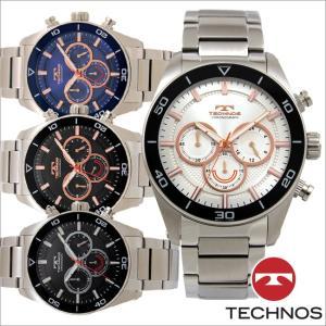 テクノス T6A44 オールステンレスモデル クロノグラフ 腕時計 メンズ TECHNOS 正規品 アウトレット|watch-outletstore
