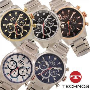 テクノス T6A45 オールステンレスモデル クロノグラフ 腕時計 メンズ TECHNOS 正規品 アウトレット|watch-outletstore